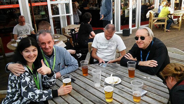 Edinburgh International Book Festival 2016 - post event drinks