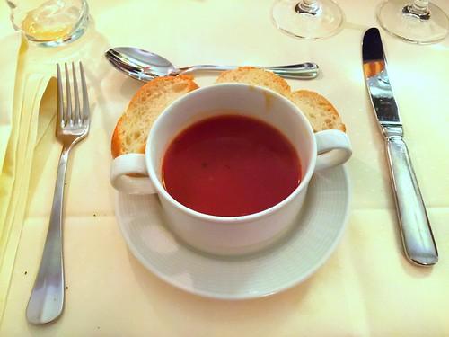 Tomato soup / Tomatensuppe - Best Western Hotel Steinsgarten - Gießen