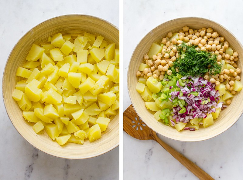 CREAMY CHICKPEA + POTATO SALAD