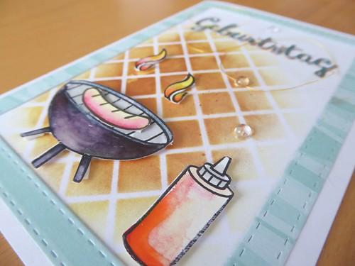 Karte zur Geburtstagsgrillparty