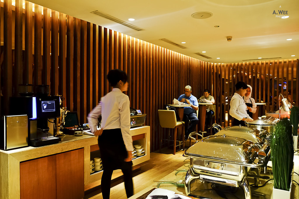 Buffet in the lounge