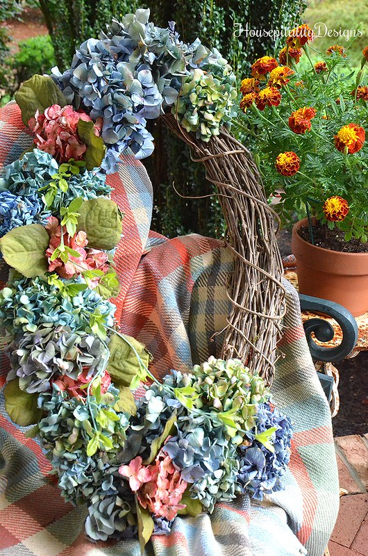 Fall Wreath - Dried Hydrangeas - Housepitality Designs