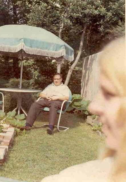 Bex and Daddy in Marblehead, 1972