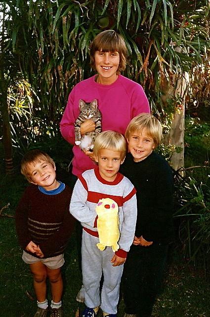 Jill, Terry, Ken & Luke Weaver in early 1986