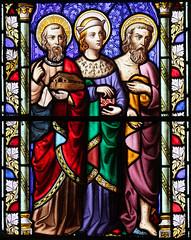 Noah, David, John the Baptist (William Wailes, 1860)