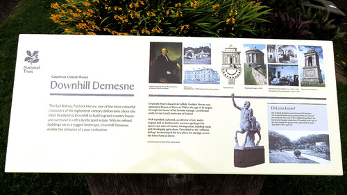 Notes on the Downhill Demesne ruins in Ireland, UK