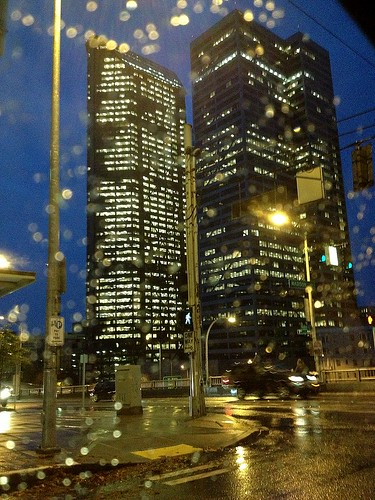 On the Morning Commute This Morning:  Downtown Seattle Skyscrapers in the Rain | by JoeInSouthernCA