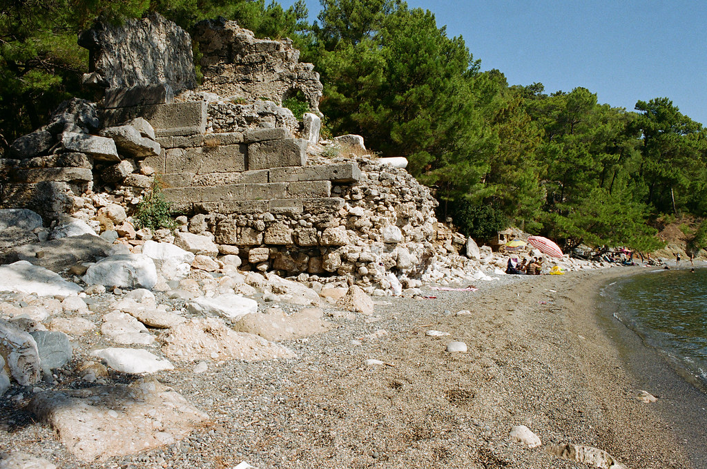 Phaselis, necropolis and beach