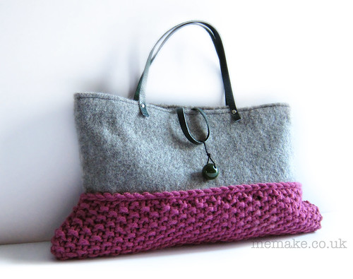 knitted wool bag by memake | by memake