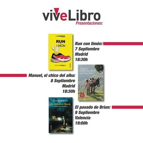 Presentaciones Vivelibro Septiembre 2016
