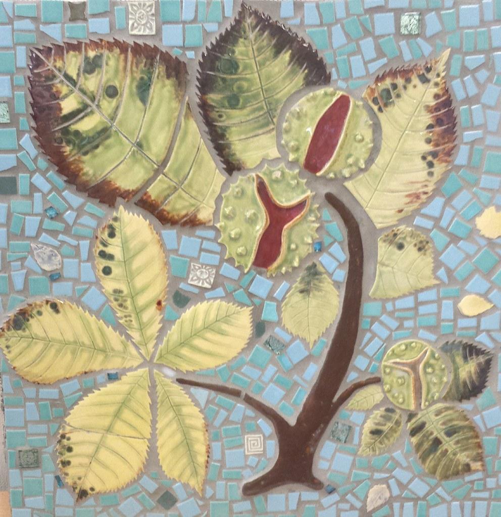 AUTUMNfrom the 4 seasons mosaics and ceramics panels