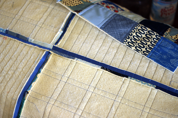 how to Assemble + Finish Quilt-as-You-Go blocks — Stitched in Color