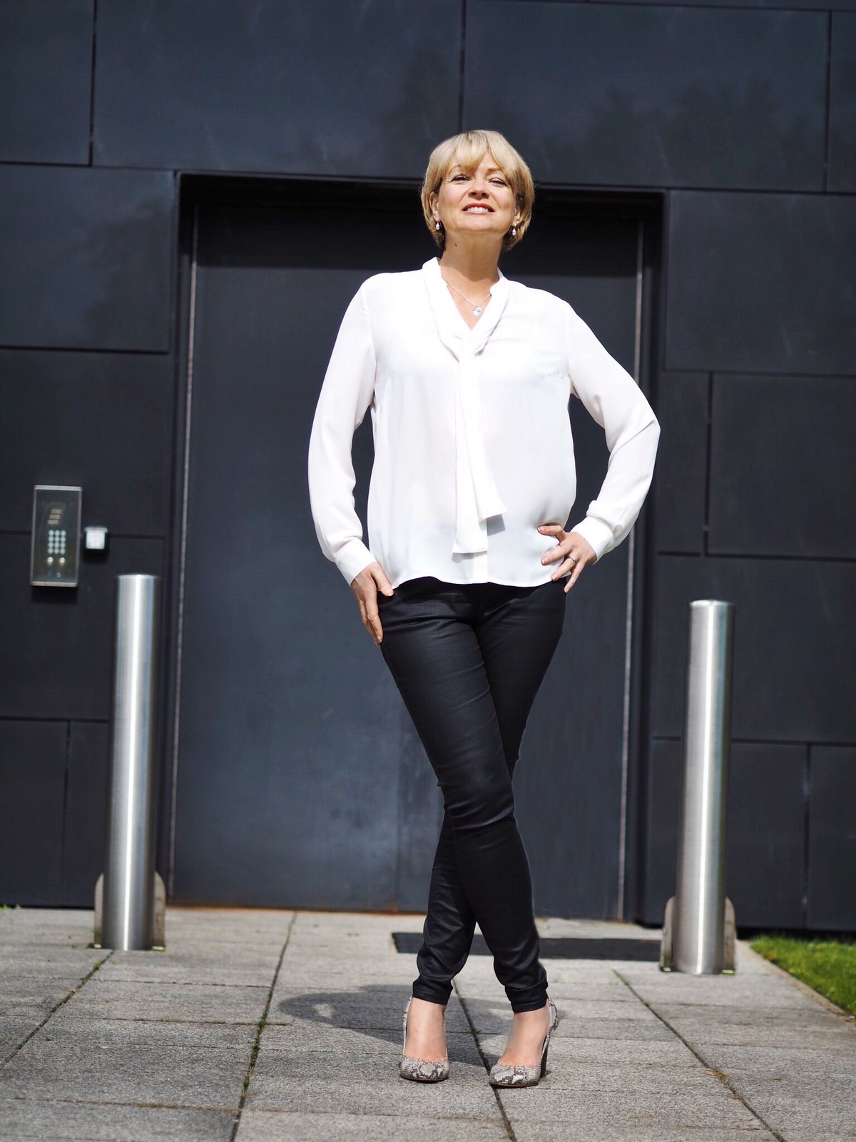 Styling a basic white top and denim: Marks & Spencer challenge - Nikki, Midlife Chic