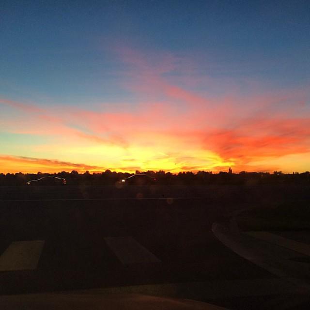 Gorgeous sunset tonight.