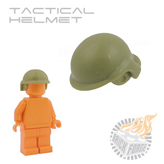 Tactical Helmet - Olive Green | by BrickForge