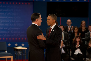 Barack Obama and Mitt Romney at the second presidential debate—October 16th | by Barack Obama