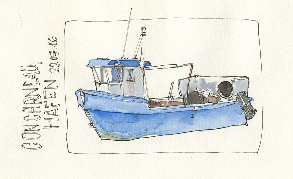 Fishing boat at Concarneau harbour