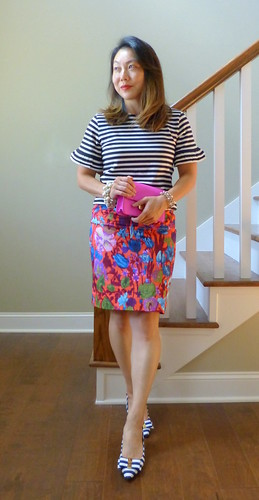 ruffled sleeves + watercolor floral