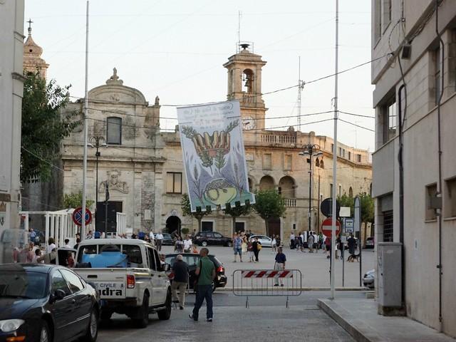 vessilli ad arte nel centro storico