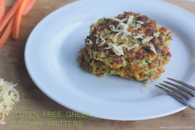 Gluten free Greek zucchini fritters side view no text by little luxury list.jpg