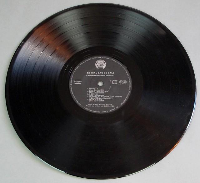 """BEAU LAC DE BALE Baignades POP STAR strictement interdit orig swiss 12"""" LP VINYL"""