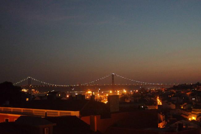 Lisbona - Vista di la rooftop del locale Park
