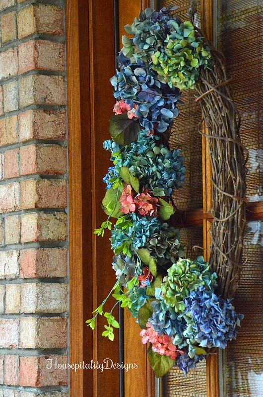 Dried Hydrangea Wreath - Housepitality Designs