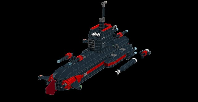 FNS Black Pearl, Fusion Powered Sub MOC (LDD) 28859167323_23857d5a4a_z