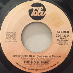 THE S.O.S. BAND:JUST BE GOOD TO ME(LABEL SIDE-B)