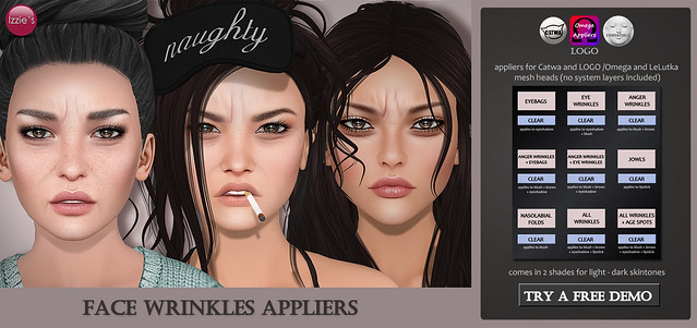 Face Wrinkles Appliers (for FLF)