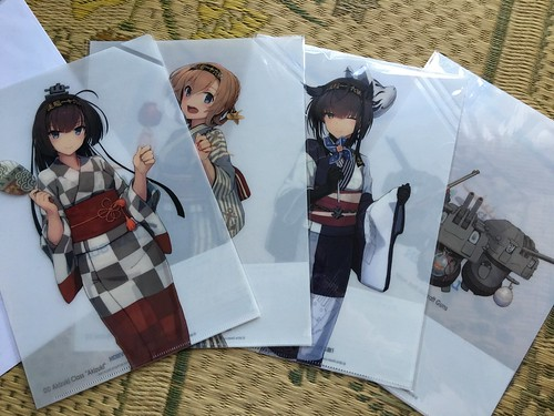 Kancolle DD Akizuki Class, clear plastic folders