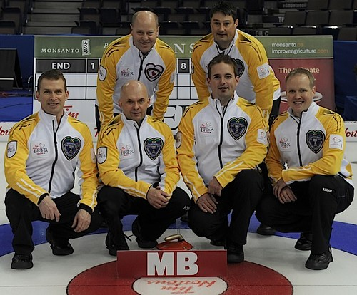 ManitobaCharleswood CC, WinnipegSkip: Jeff StoughtonThird: Jon MeadSecond: Reid CarruthersLead: Mark NicholsFifth: Garth SmithCoach: Rob Meakin | by seasonofchampions