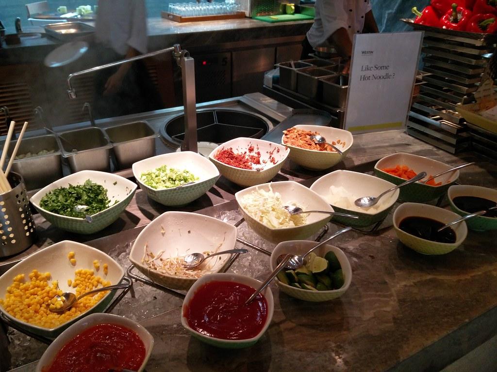 Condiments for noodle bar