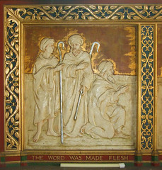 The Word Was Made Flesh: reredos, Sir Charles Nicholson, 1920