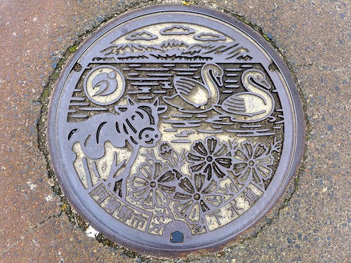 Agano Nigata, manhole cover (新潟県阿賀野市のマンホール)