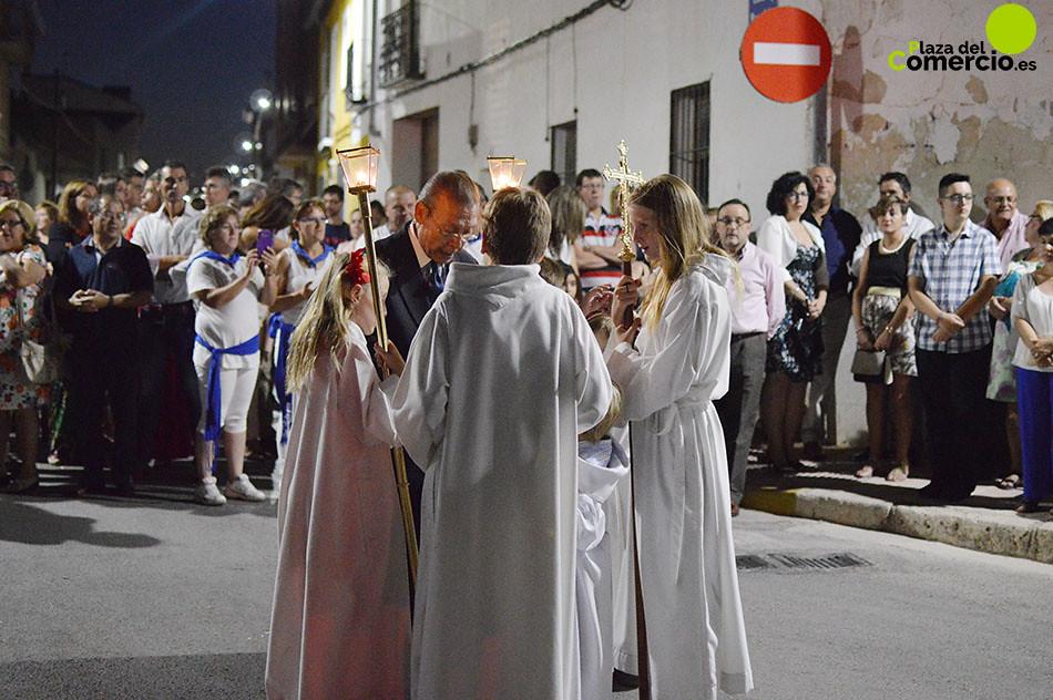 Procesión de la patrona de Tarancón, Ntra. Sra. de Riánsares.  8 de septiembre de 2016