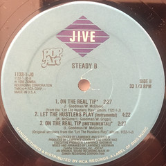STEADY B:LET THE HUSTLERS PLAY(LABEL SIDE-B)