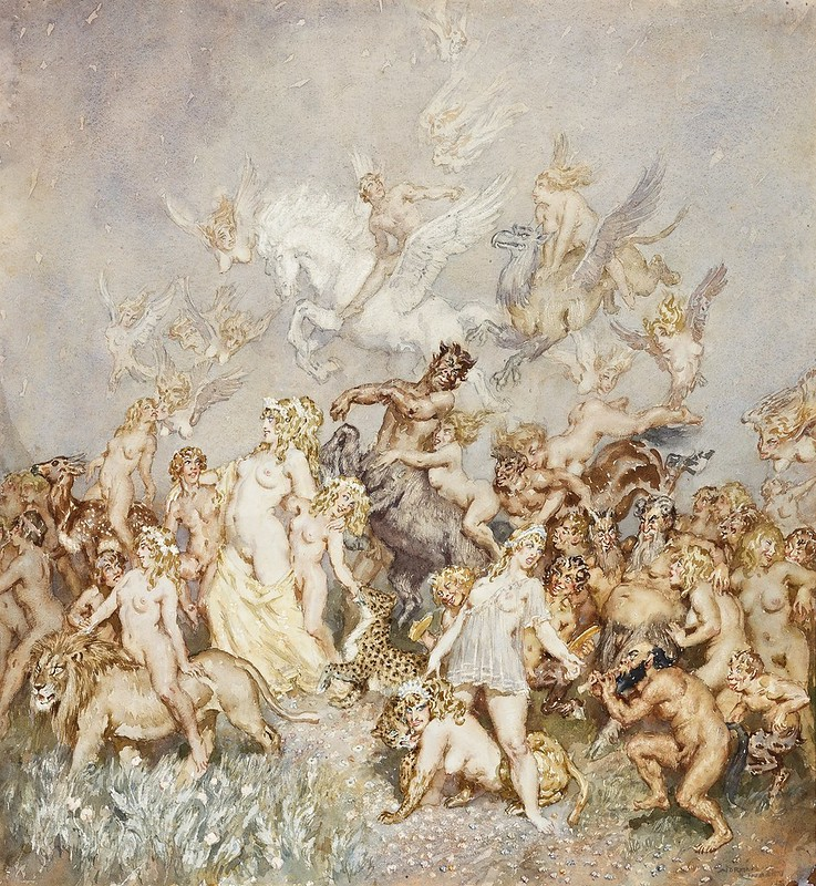 Norman Lindsay - The Entourage, 1940