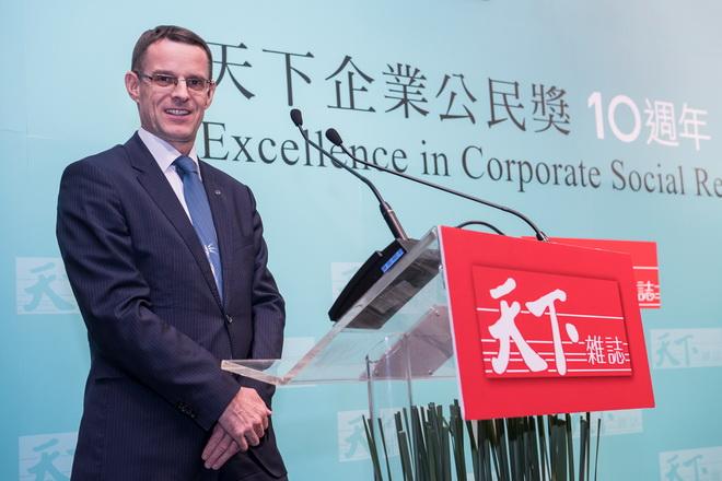 台灣賓士總裁邁爾肯表示,CSR對賓士而言非僅只是單一計畫,是企業永續發展上不可或缺的一環