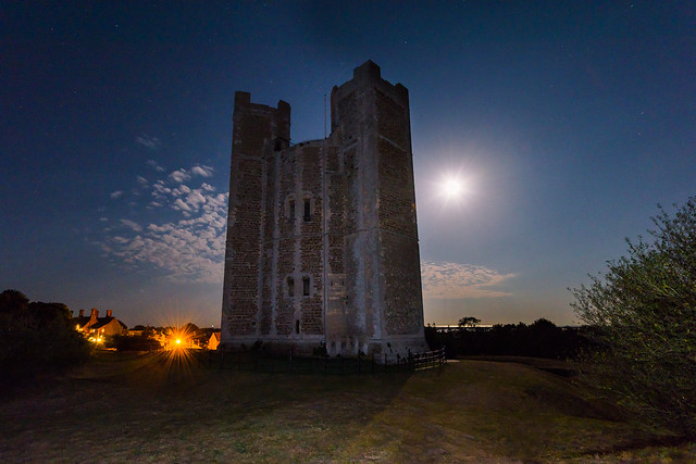 The Moon and Orford Castle