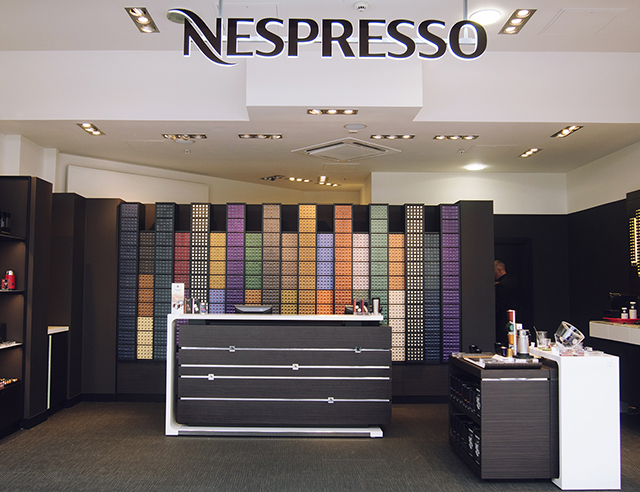 Nespresso pop-up boutique shop front, Cribbs Causeway