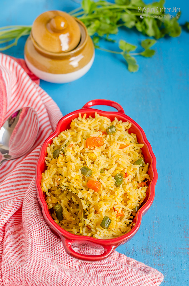Moong dal vegetable rice