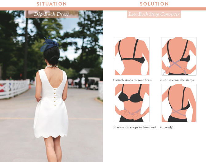 bra strap converter_what to wear under low back top dress