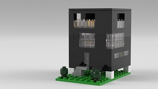 Floating House in LEGO by Steven Reid