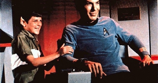 Leonard Nimoy's son Adam visits him on the set of 'Star Trek', as shown in Adam's documentary FOR THE LOVE OF SPOCK.