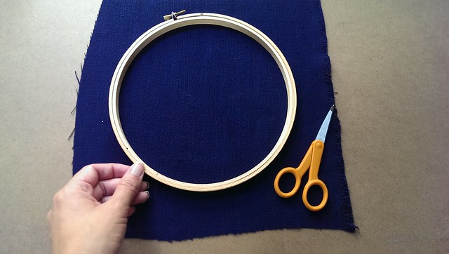 Step 1: fabric and hoop