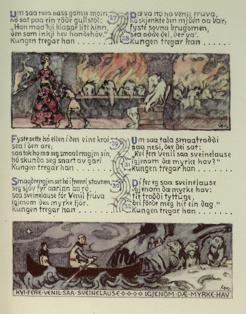 Gerhard Munthe - Norwegian Folk Tales, Illustrated Page 6, 1933