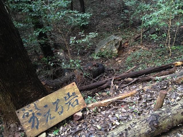 金華山 東坂登山道 かえる岩
