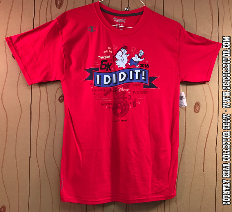 2016 Disneyland 5k I Did It shirt by Run Disney - Country Bear Jamboree Collector Show #068