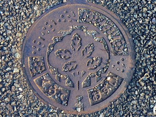 Kurate Fukuoka, manhole cover 2 (福岡県鞍手町のマンホール2)